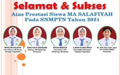 Lima Siswa MA Salafiyah Karangtengah Lolos dalam SNMPTN